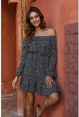 PODOS Printed Casual Midi Dress