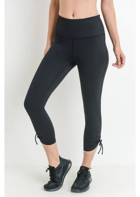 PODOS Highwaist Tie Accent Capri Leggings