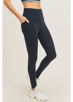 PODOS Tapered Band Solid Highwaist Leggings