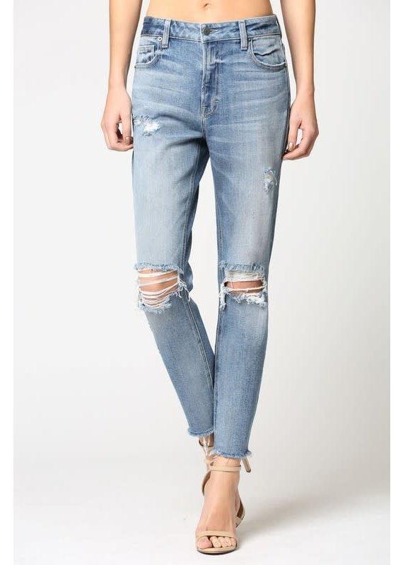 Hidden Hidden Brand Distressed Mom Jeans