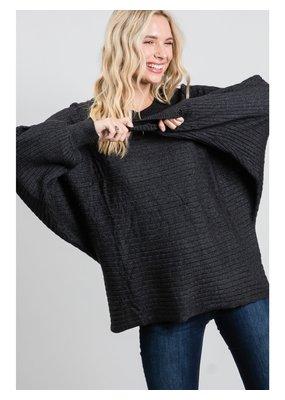 PODOS Horizontal Ribbed Sweater