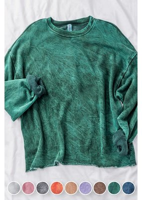 PODOS French Terry Cropped Sweatshirt
