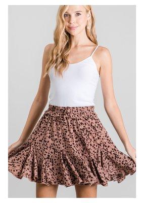 PODOS Dalmation Print Skirt