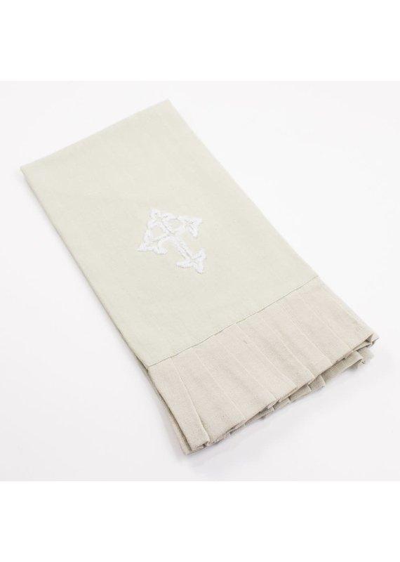Royal Standard Cross Ruffle Hand Towel