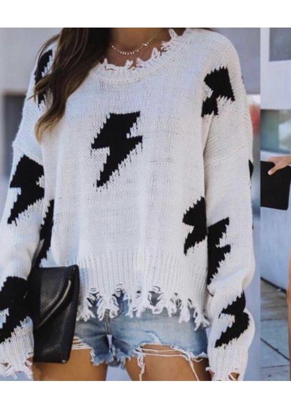 PODOS Bolt Print Sweater
