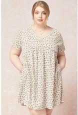 PODOS V-Neck Babydoll Dress PLUS