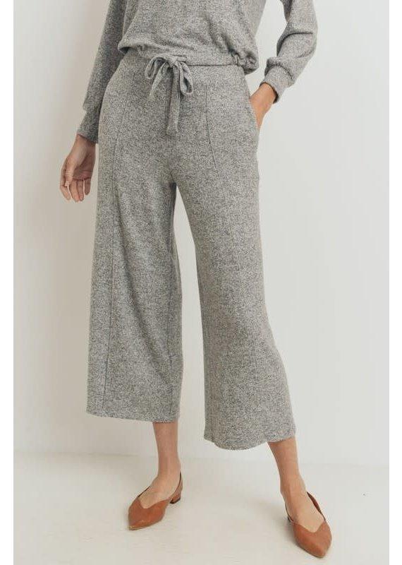 PODOS Brushed Knit Culotte Pants