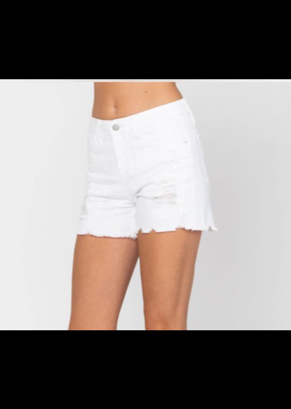 Judy Blue JB Lace Patch Destroyed Shorts