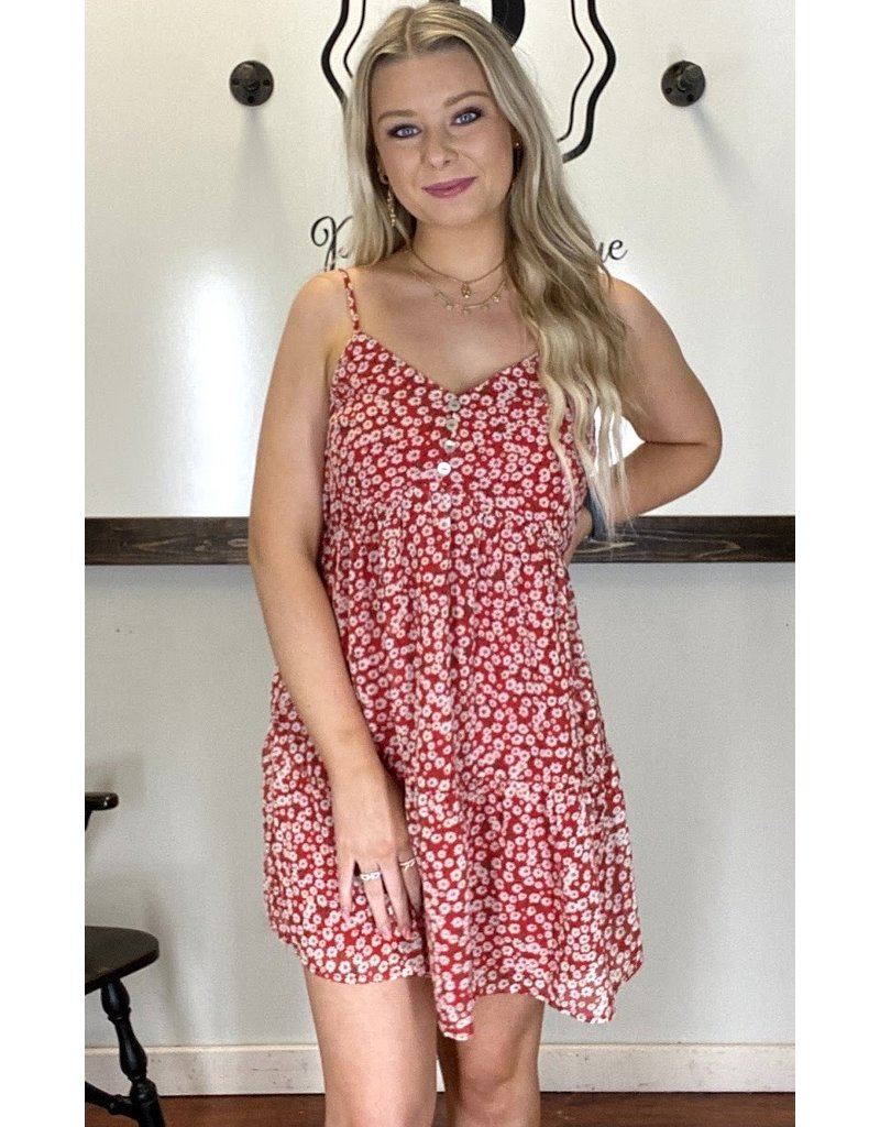 PODOS Floral Print Dress