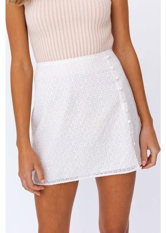 PODOS Slit Mini Skirt