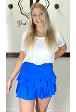 PODOS Smocked Tiered Skirt