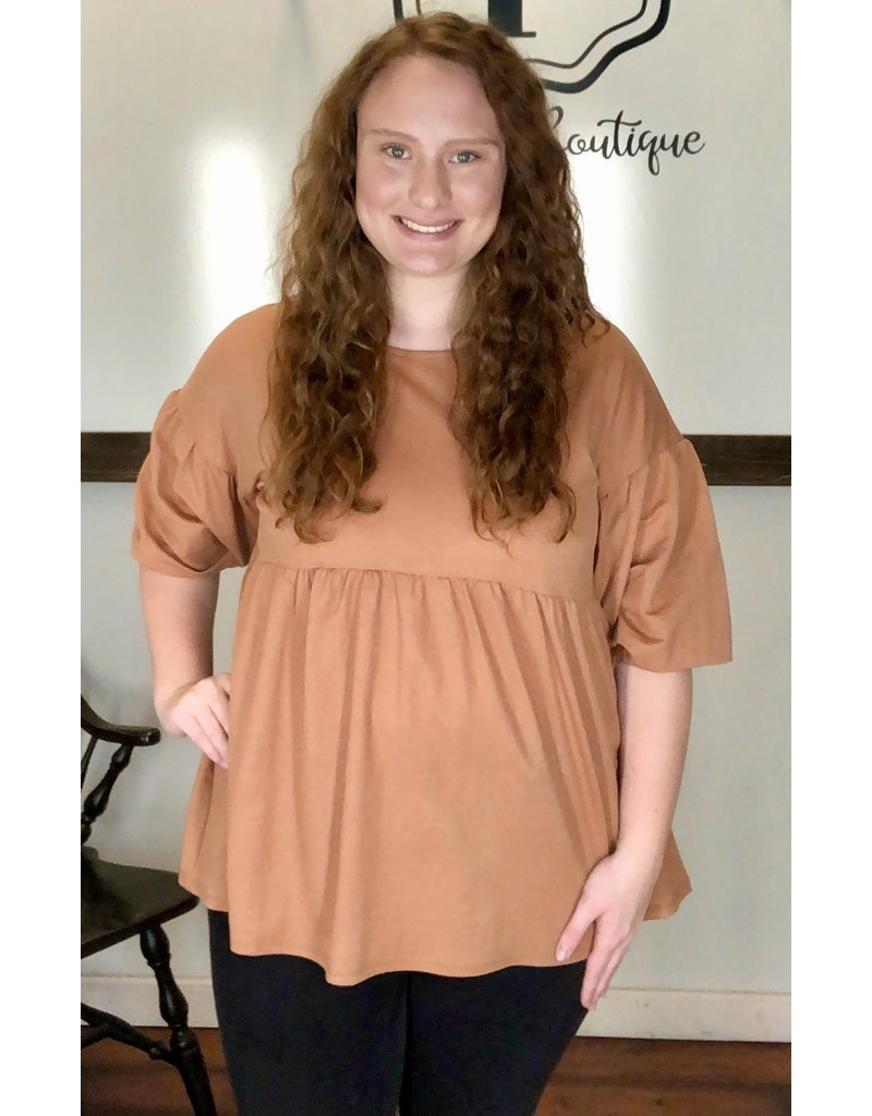 PODOS Puffy Sleeve Swing Top