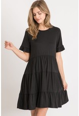 PODOS Tiered Ruffle Baby Doll Dress