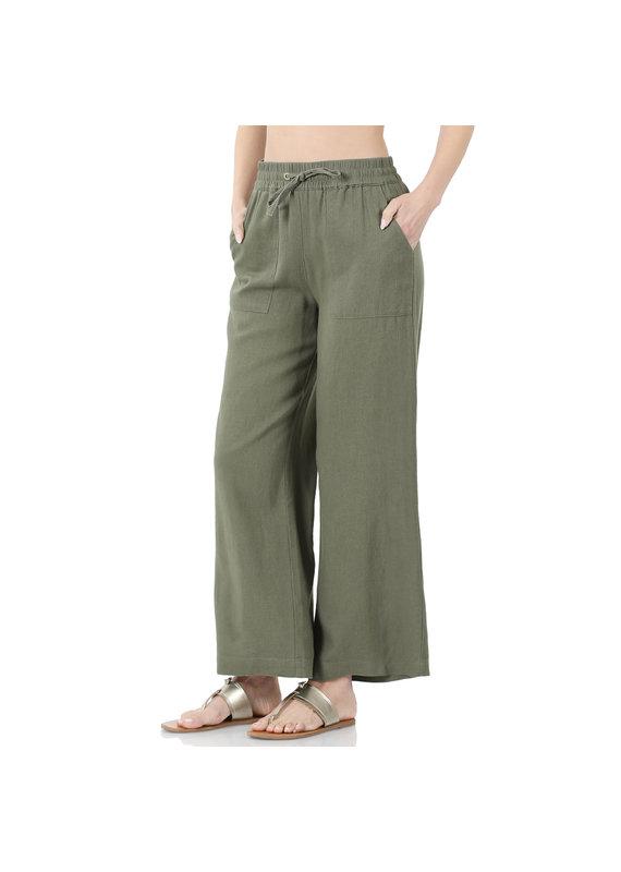 PODOS Linen Drawstring Pants