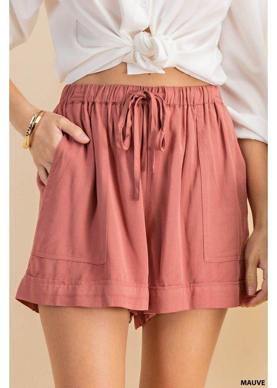 PODOS Textured Drawcord Shorts