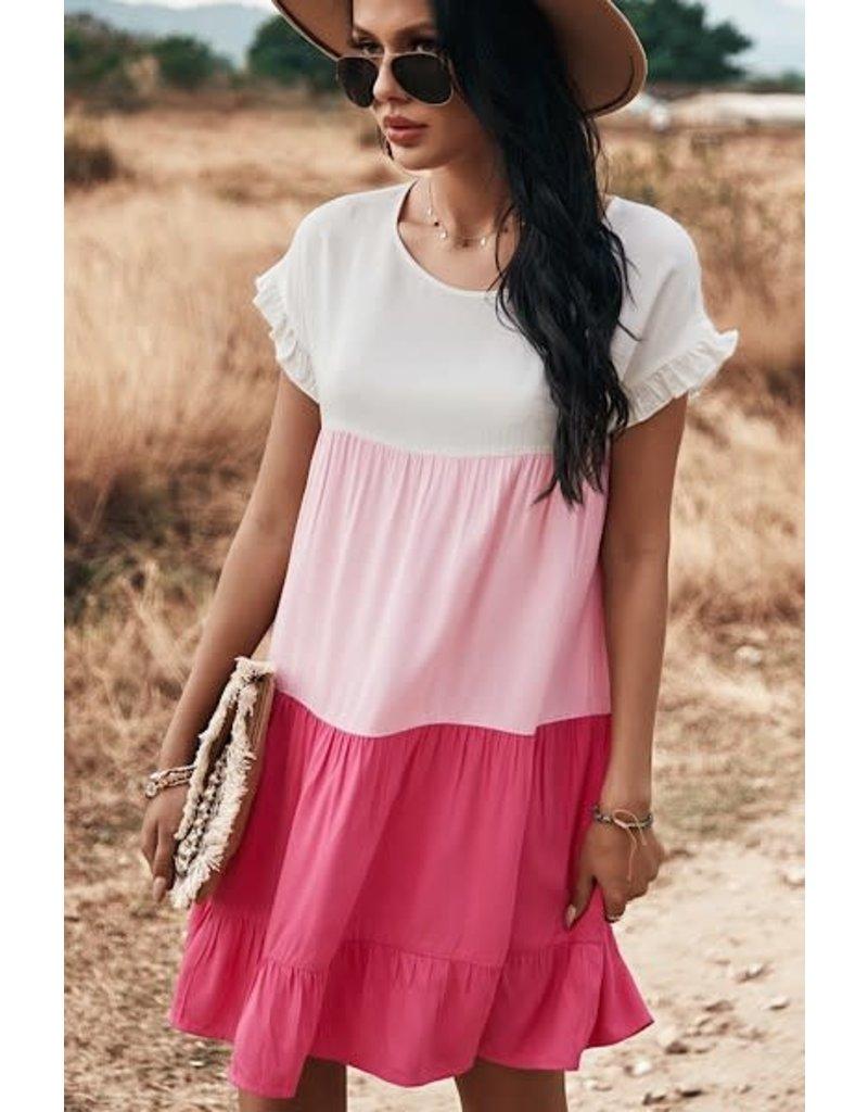 PODOS Color Block Dress