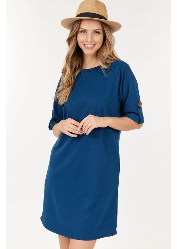 PODOS French Terry Tunic Dress