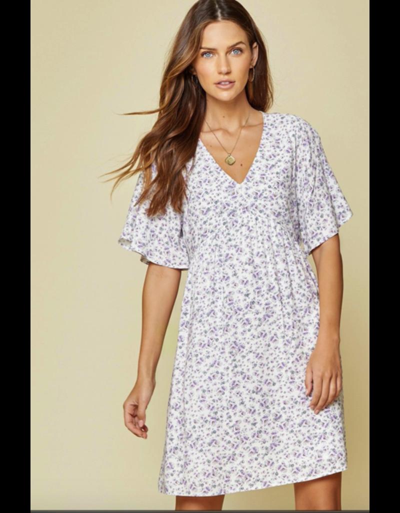 PODOS Floral Print Babydoll Dress