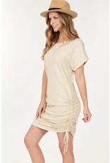 PODOS Short Sleeve Knit Dress w/ Drawstrings