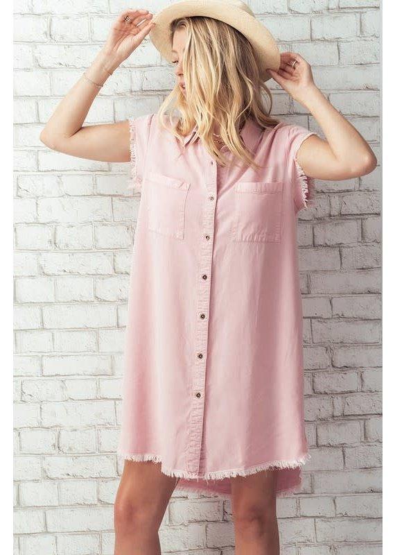 PODOS Vintage Wash Denim Dress