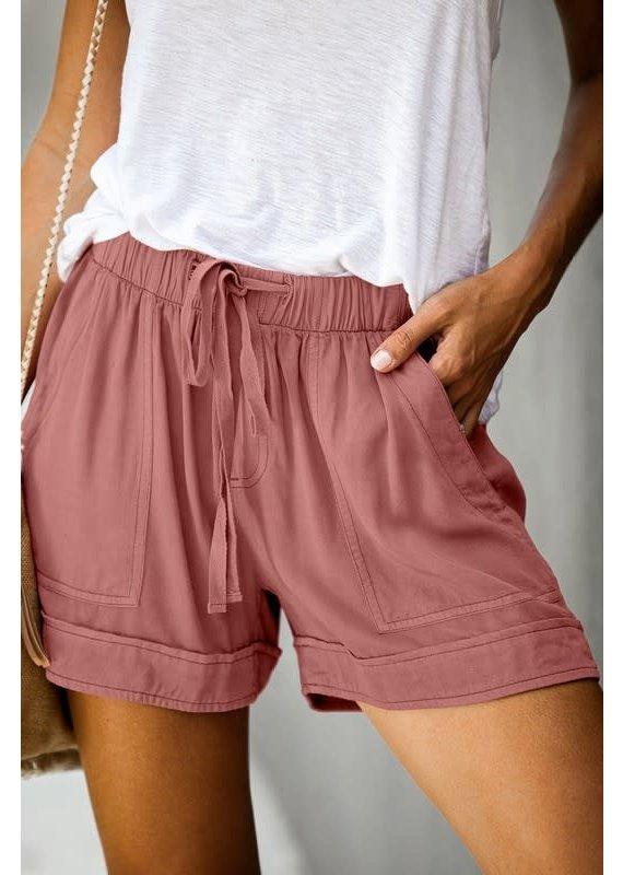 PODOS Drawstring  Cuffed Shorts