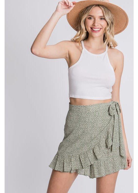 PODOS Ruffle Hem Skirt