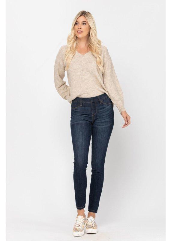 Judy Blue Pull On Blue Jeans REG