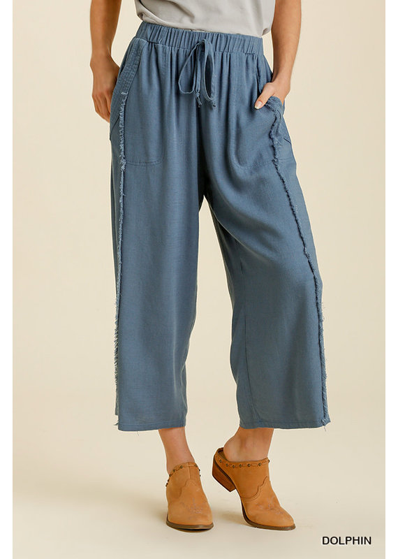 PODOS Linen Blend Wide Leg Pant