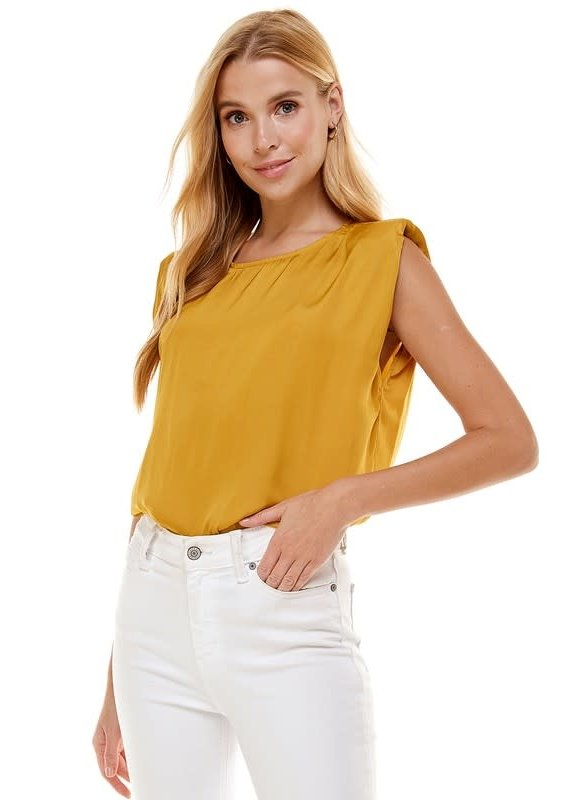 PODOS Padded Shoulder Muscle Top