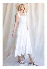 midi dress with smocked bodice