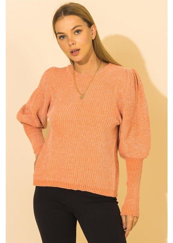 PODOS Balloon Sleeve Sweater