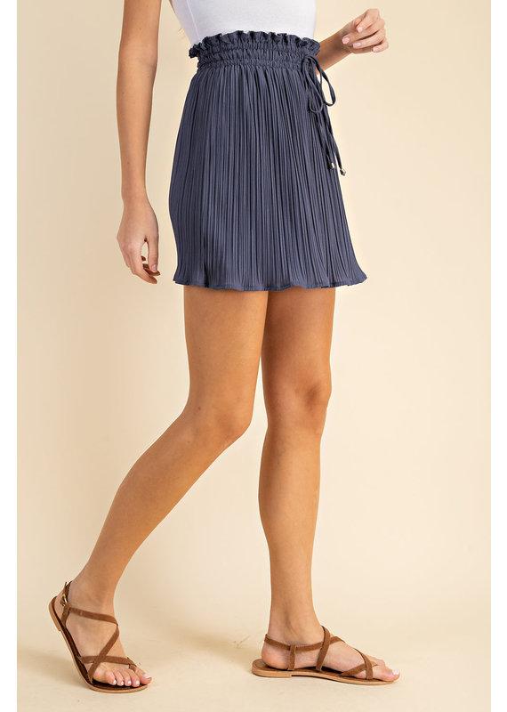 PODOS Pleated Mini Skirt