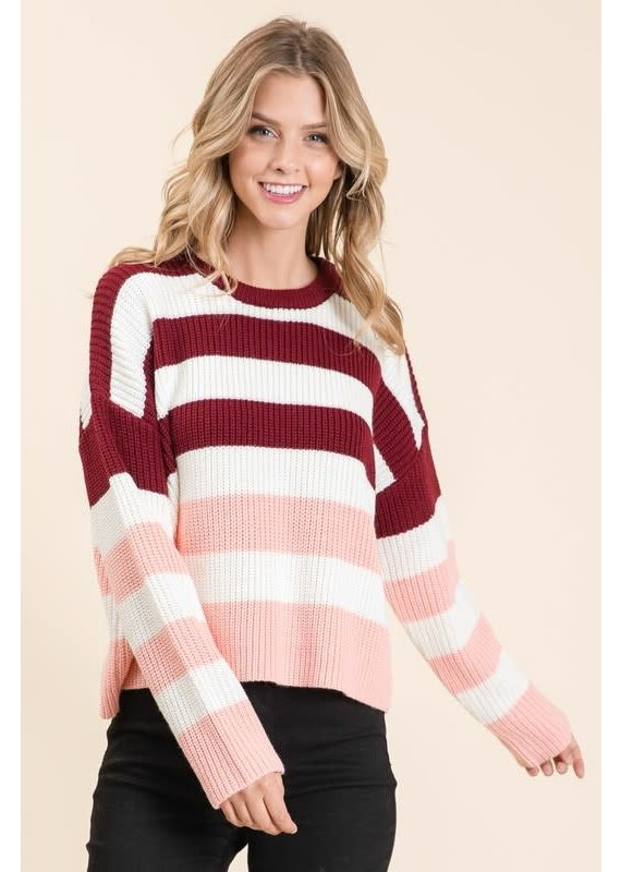 Lumiere Striped Knit Sweater