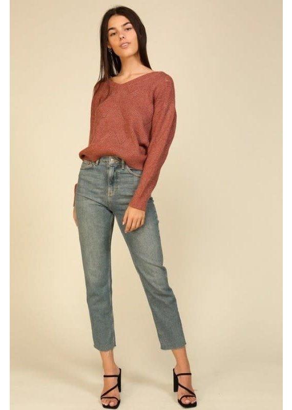 Lumiere Knit V-Neck Sweater