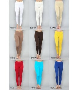 One-Size, Solid Long Legging