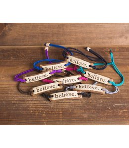 Mud Love Believe Adjustable Bracelet