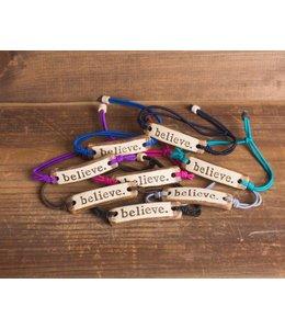 Mud Love Believe Adjustable Bracelet