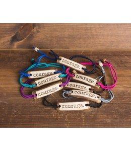 Mud Love Courage Adjustable Bracelet