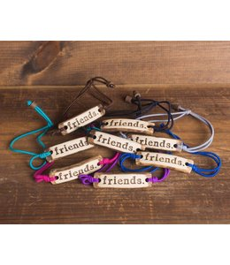 Mud Love Friends Adjustable Bracelet