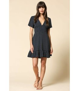 By Together Polka-Dot Ruffle Dress