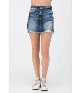 e6ec37b1b50 Frayed Denim Skirt.  38.95. Sale. Sneak Peek Denim Tencel Romper