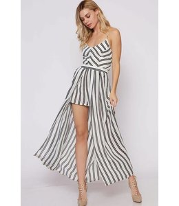 Fantastic Fawn Stripe Skirted Romper