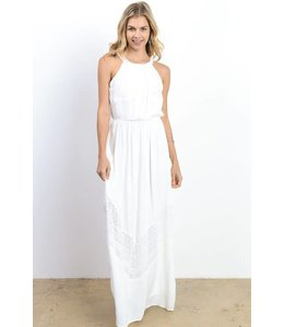 Doe & Rae Crochet Trim Maxi Dress