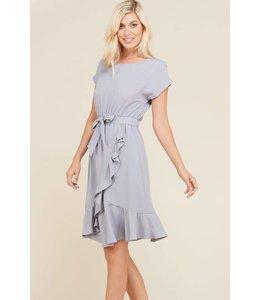 Polagram Waterfall Ruffle Dress