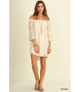Umgee Lace Off Shoulder Dress