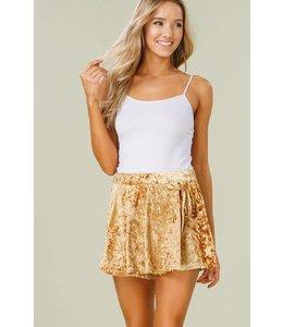 Listicle Velvet Wrap Shorts