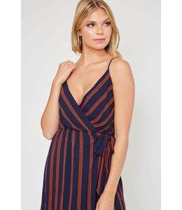 Peach Love Stripe Woven Dress