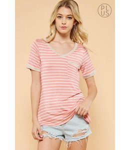 Andree Striped Pocket T