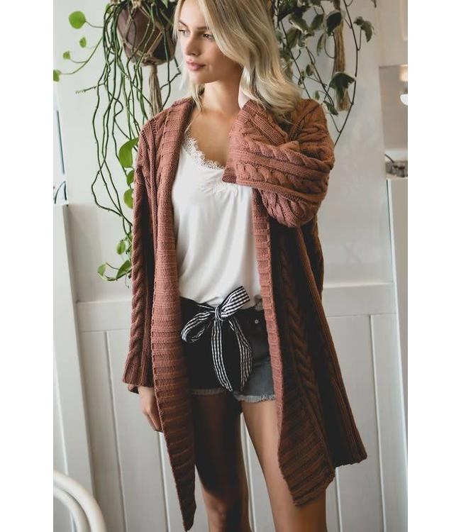 POL Oversized Cable Knit Sweater
