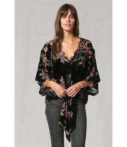 By Together Velvet Front Tie Top